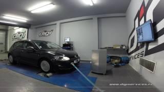 VW Golf 7 1.6 TDI 110cv Reprogrammation Moteur @ 144cv Digiservices Paris 77 Dyno
