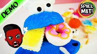 KRÜMELMONSTER übertreibt mit Squishy Toys! 20 Mega Pack Squishy Spielzeuge Deutsch - Spiel mit mir