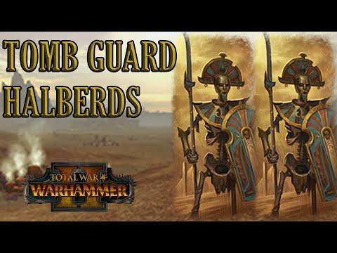 CORE UNIT: Tomb Guard Halberds - Tomb Kings vs High Elves // Total War: WARHAMMER II Online Battle |