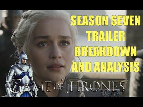 Game of Thrones Stagione Sette Trailer Breakdown e analisi