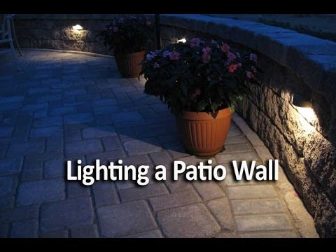 How To Add Lighting To A Patio Wall