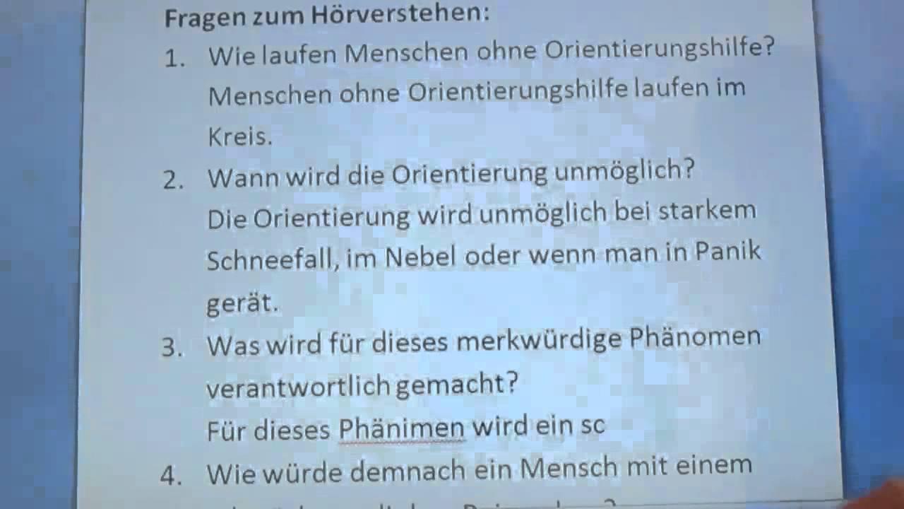 deutsch live unterricht dsh vorbereitung hrverstehen orientierung versagt 1 - Dsh Beispiel