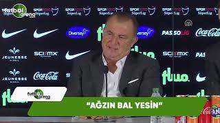 """Fatih Terim'in şampiyonluk sorusuna cevabı: """"Ağzın bal yesin"""""""