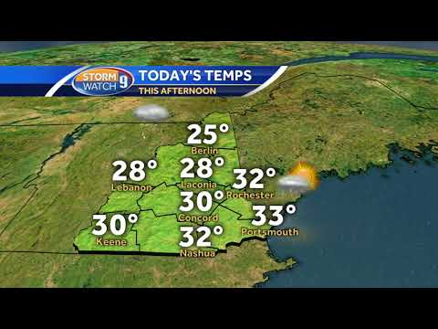 Watch: Temperatures finally get above freezing in places today