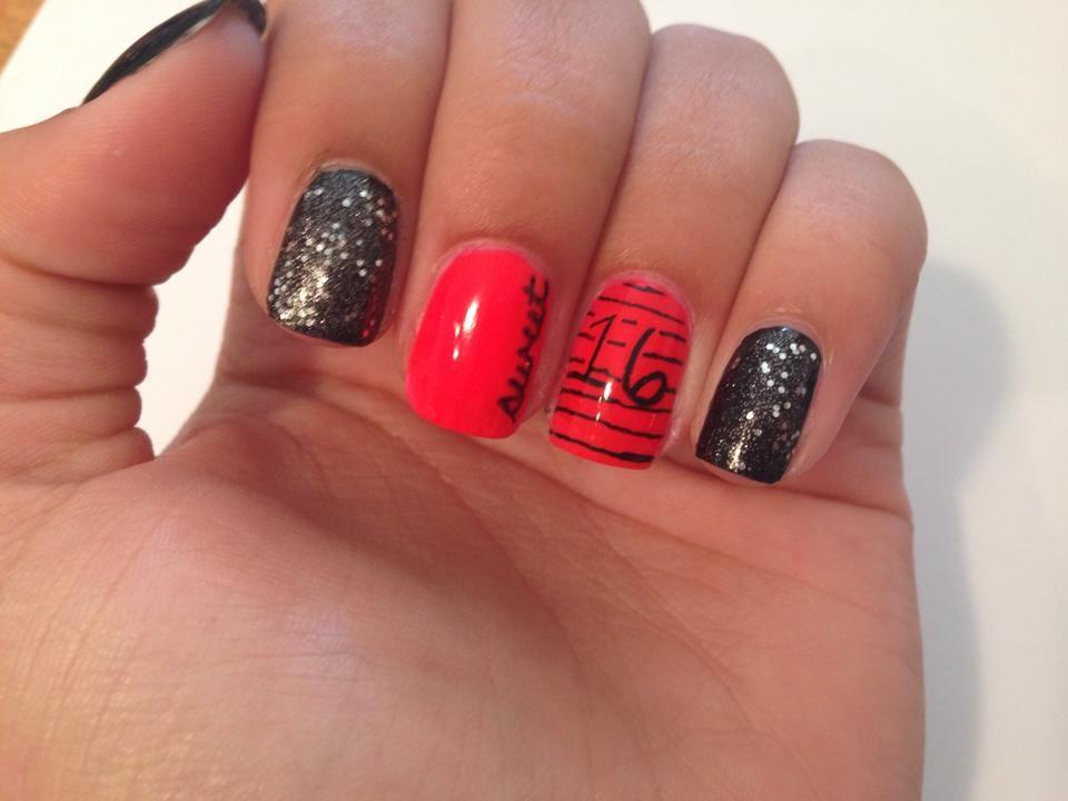 sweet 16 nail art