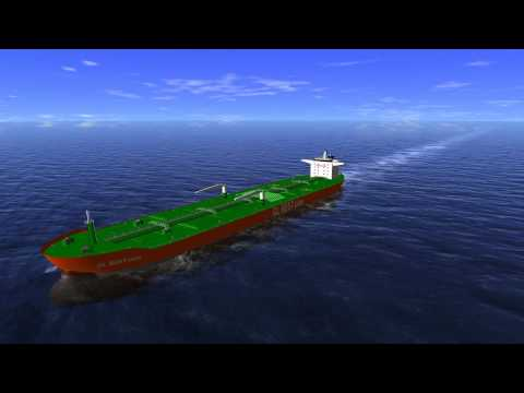 Aframax Tanker - 3D Helicopter Flight within the FRIENDSHIP-