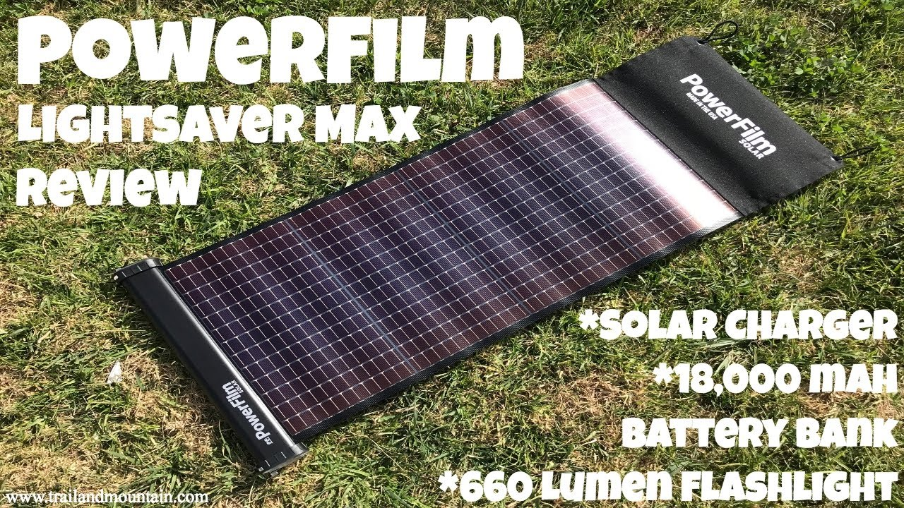 Powerfilm Lightsaver Max Solar Charger Amp Battery Bank