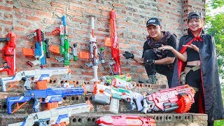 LTT Nerf War : Special Police SEAL X Warriors Nerf Guns Fight Criminal Group Madam Bandits