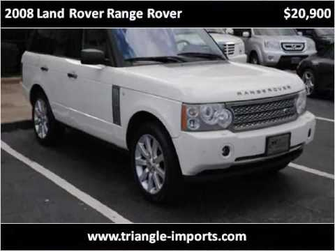 2008 land rover range rover used cars raleigh nc youtube. Black Bedroom Furniture Sets. Home Design Ideas