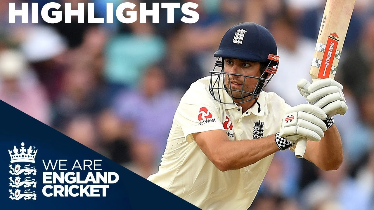 Alastair Cook Unbeaten On 46! | England v India 5th Test Day 3 2018 - Highlights