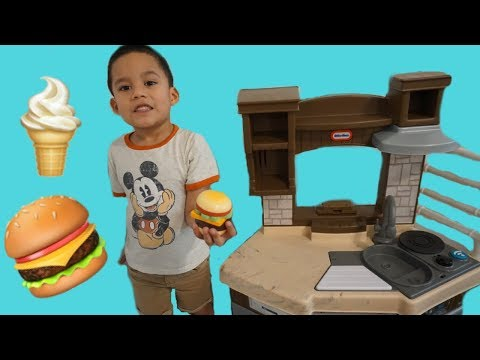 Enzo Pretend Play With Kitchen Restaurant Cooking Kids Toys