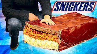 WE PREPARED A HUGE SNICKERS BAR WEIGHING 80 KILOGRAMS