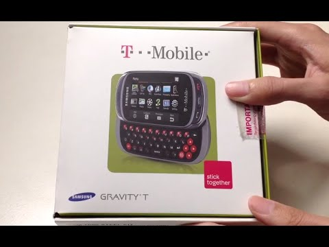 Samsung Gravity T Unboxing