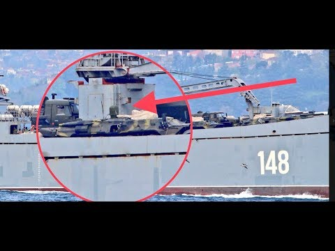 Russia sends warships loaded with tanks towards Syria As Putin warns of global 'chaos'