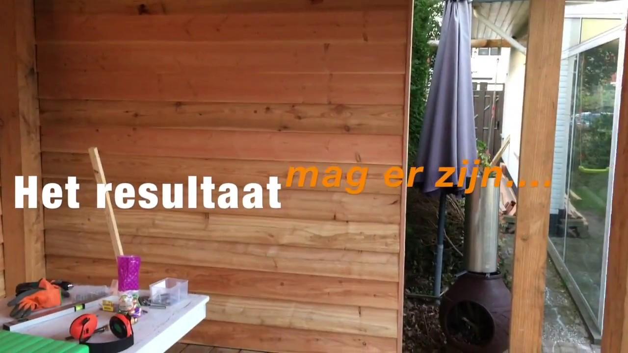 Hoe doen ze dat terras overkapping maken van douglas hout deel 2 youtube - Terras hout ...