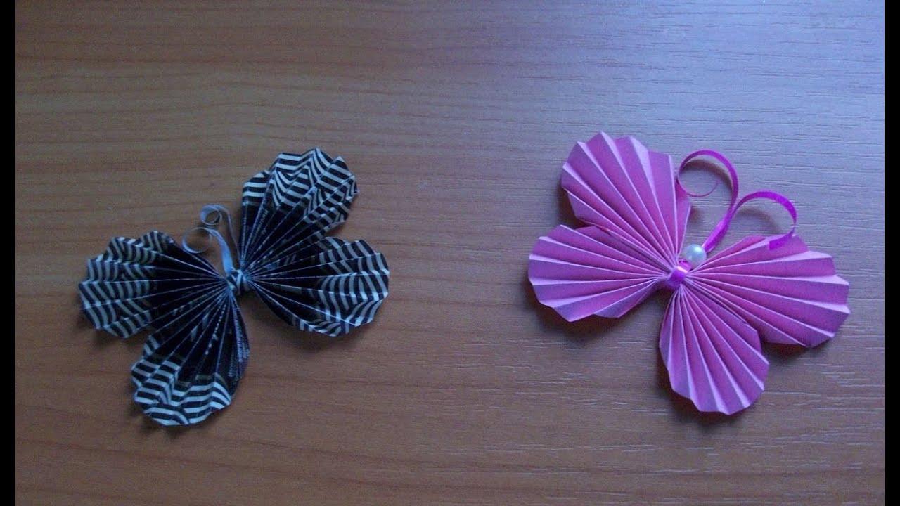 Поделки своими руками бабочка бумага