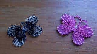 видео Бабочки из бумаги на стену своими руками: мастер-классы