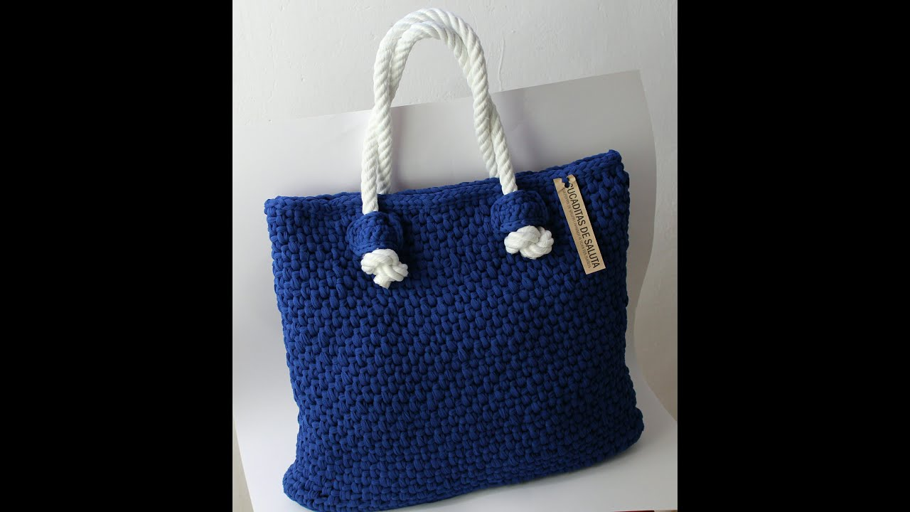 How To Make Crochet Bags Step By Step : Basket or bag to step Crochet fettuccia - YouTube