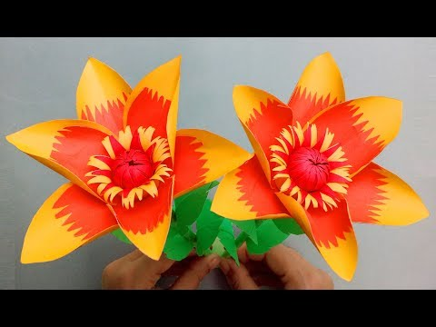 DIY: Handmade Crafts - How To Make Very Easy Flower Bouquet With color Paper decoration