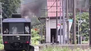 磐越西線 42k000 上り C57180 8226レ  上野尻-野沢間 野沢駅発車