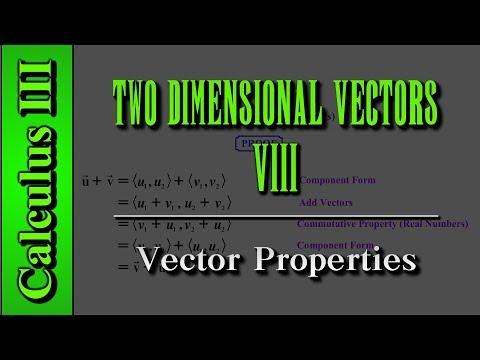 Calculus III: Two Dimensional Vectors (Level 8 of 13)   Vector Properties