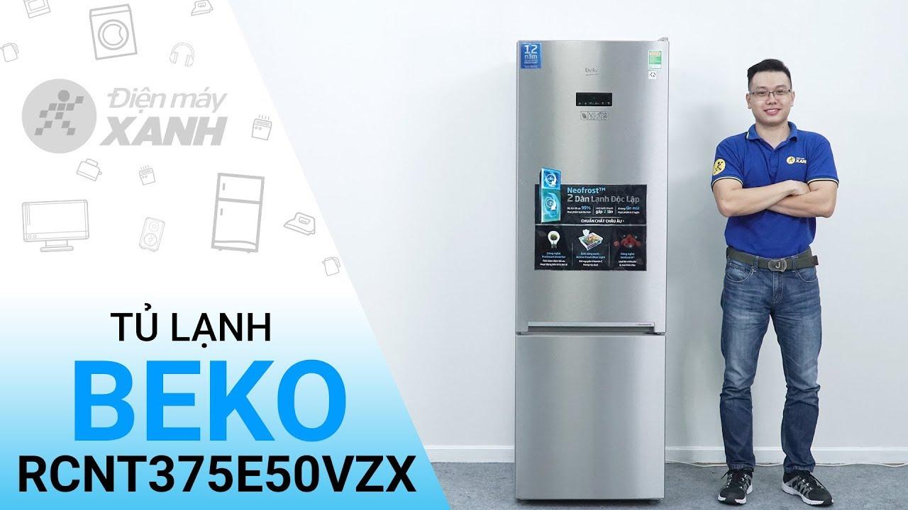 Tủ lạnh Beko RCNT375E50VZX – Tủ lạnh ngăn đá dưới đầu tiên có 2 dàn lạnh độc lập | Điện máy XANH