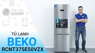 Tủ lạnh Beko RCNT375E50VZX - Tủ lạnh ngăn đá dưới đầu tiên có 2 dàn lạnh độc lập | Điện máy XANH