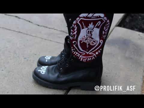 "@Prolifik_ASF – "" Delta Sigma Theta Sorority Inc. "" Timberland Boots"