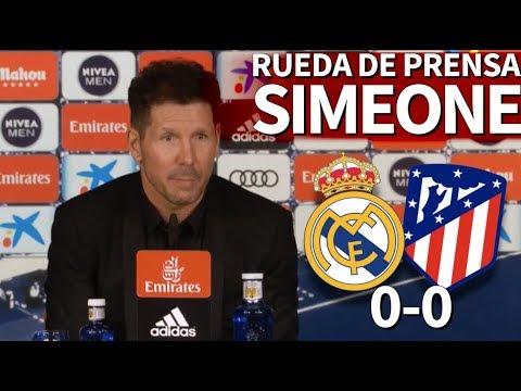 Real Madrid 0-0 Atlético   Rueda de prensa del Cholo Simeone tras el derbi   Diario AS