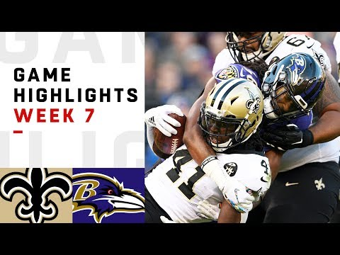 Saints vs. Ravens Week 7 Highlights | NFL 2018