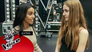 Nora checkt de zenuwen van Jade voor de finale! | The Voice Kids Extra 2018