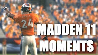 CHAMP BAILEY AND THE MILE HIGH D - Madden 11 Madden moments part 2