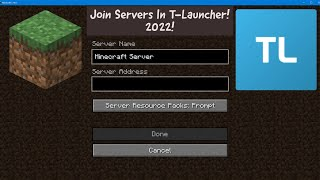 How To Play Servers In TLauncher 2021 YouTube
