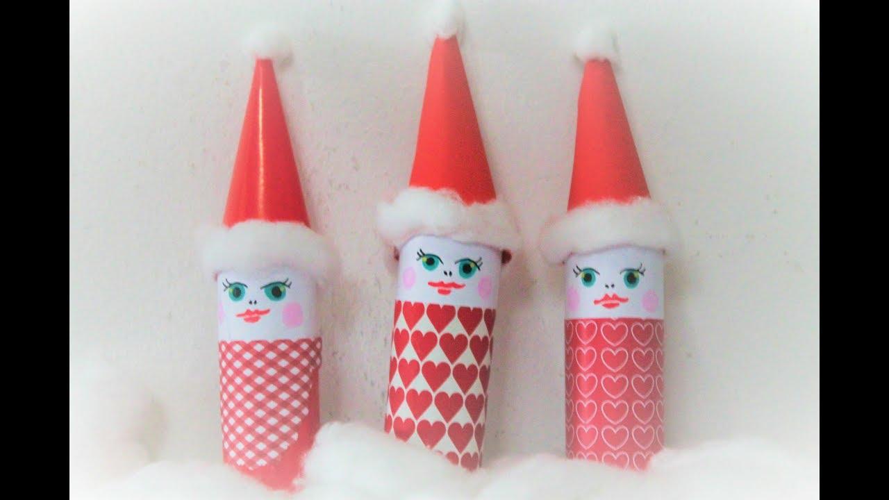 Lav flot julepynt med toiletruller, DIY for børn,  tutorial med musen Metermål