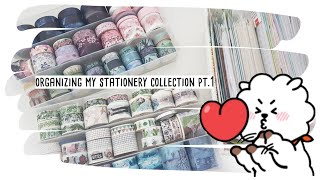 organizing my stationery collection pt.1 || washitape & stickers
