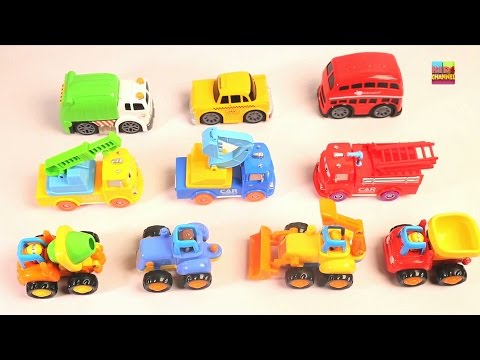 Learning Street Vehicles Names and Sounds for kids | City Cars And Trucks