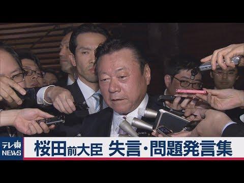 桜田前大臣 失言・問題発言集