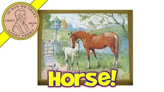 Vintage Victory Horse & Pony Wood Jigsaw Puzzle Stop-motion Animation Fun, By Gj Hayter & Co