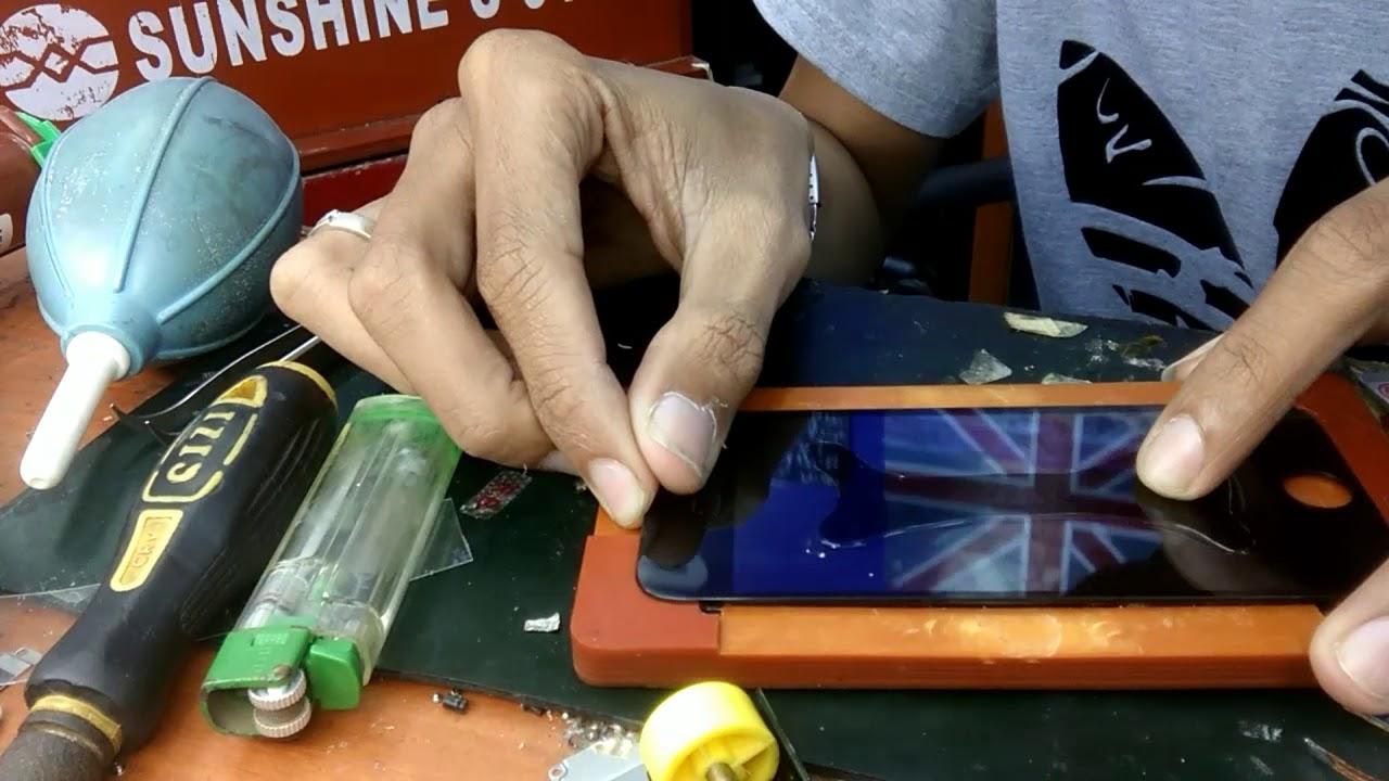 Cara ganti kaca iphone dan samsung tanpa ganti LCD