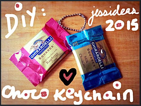 Jess Ideas EASY Gift DIY Cute Chocolate Keychain