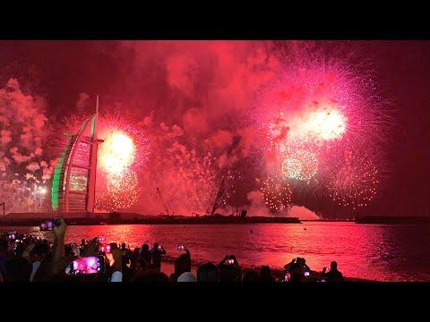DUBAI FIREWORKS 2019 | HAPPY NEW YEAR 2019 DUBAI | JUMEIRAH FIREWORKS 2019