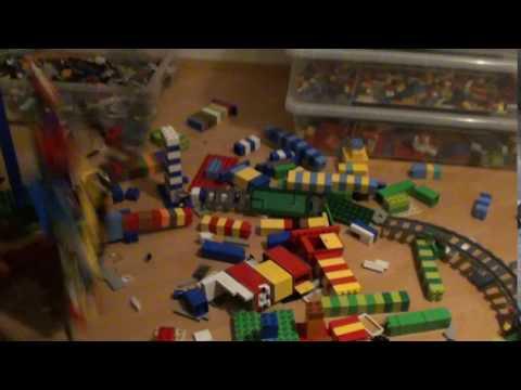 Lego Bridge Earthquake Damage