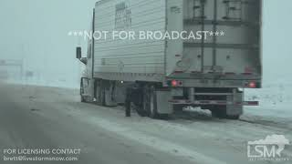 01-20-2018 I-80 Wyoming - Multiple Slideoffs Heavy Snowfall