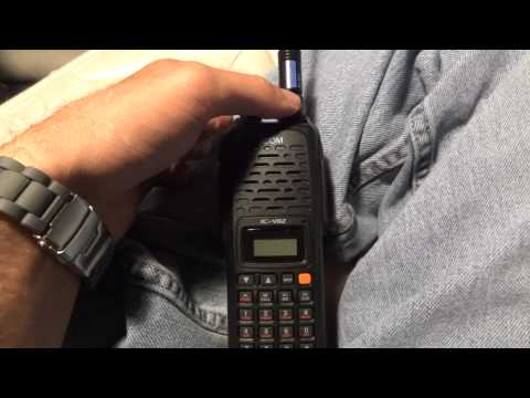 My ICOM IC-V82 ham radio!