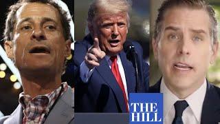 Trump compares Hunter Biden to Anthony Weiner