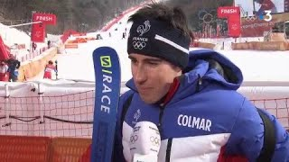JO 2018 : Ski alpin - Slalom Hommes / Muffat-Jeandet :