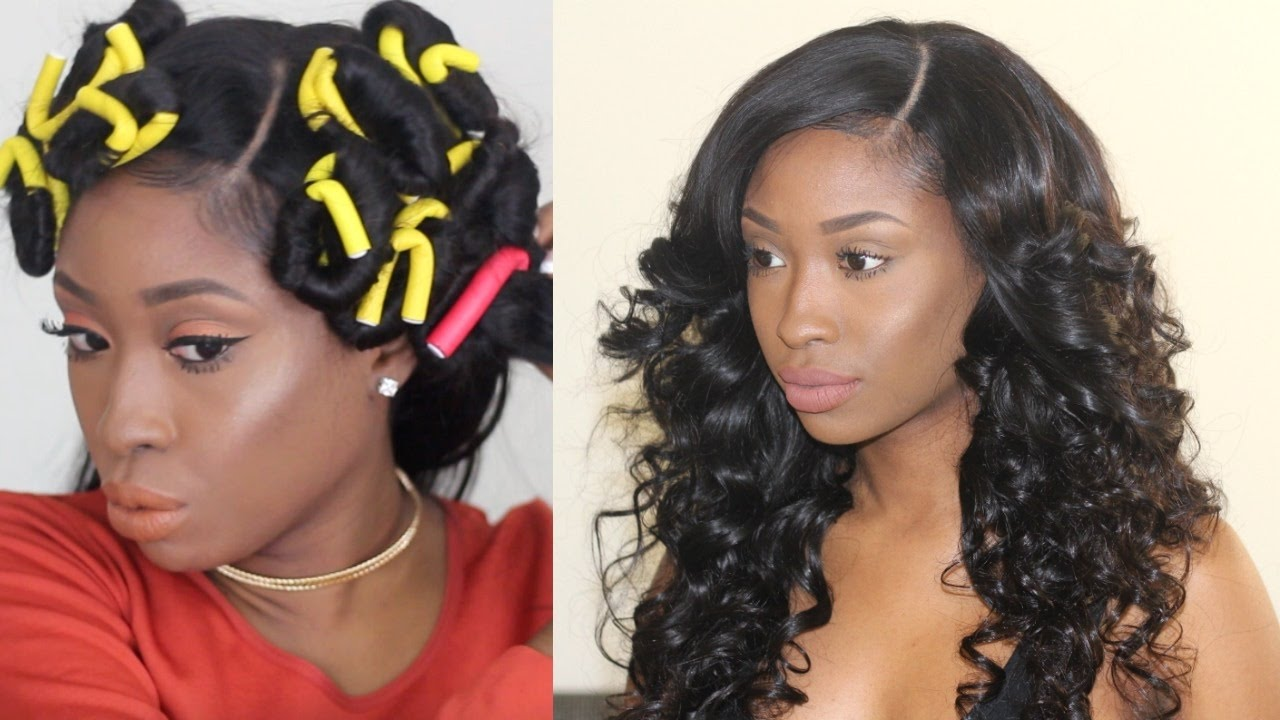 Full Bouncy Curls With Flexi Rods Detailed Youtube