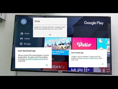 How to Fix All Google Play Store Errors in Smart TV (Android TV)