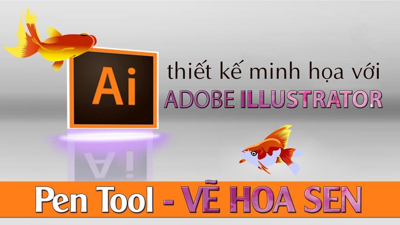 VẼ HOA SEN – Pen Tool – Adobe Illustrator-VỰA ĐỒ HỌA
