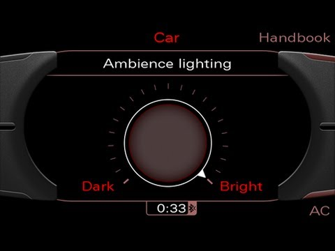 codage lumi re ambiance coding ambient light audi mmi. Black Bedroom Furniture Sets. Home Design Ideas